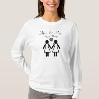 Silhouette Bride and Bride - Tall T-Shirt