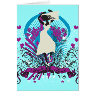 Silhouette Bride Greeting Card