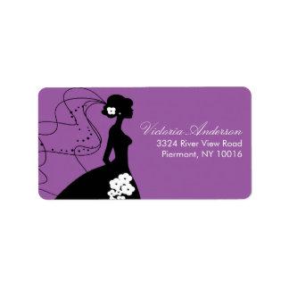 Silhouette Bride Return Address Labels
