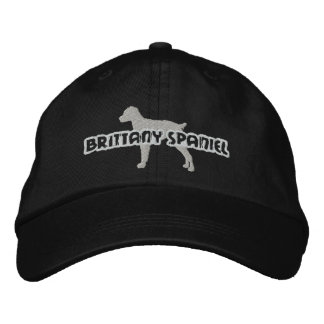 Silhouette Brittany Spaniel Embroidered Hat