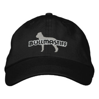 Silhouette Bullmastiff Embroidered Hat