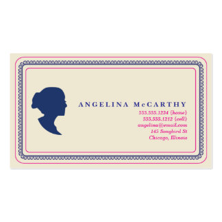 silhouette  calling card business card