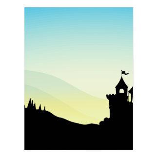 Silhouette Castle Postcard