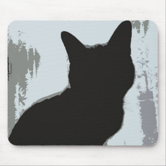 Silhouette Cat Mouse Mat