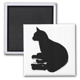 Silhouette Cat Pet Animal Magnet