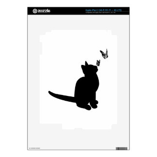 Silhouette Cat Skins For iPad 3