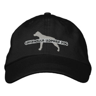 Silhouette Catahoula Leopard Dog Embroidered Hat