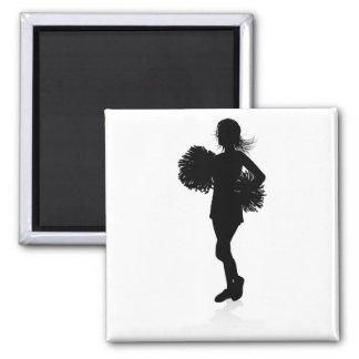 Silhouette Cheerleader Graphic Magnet