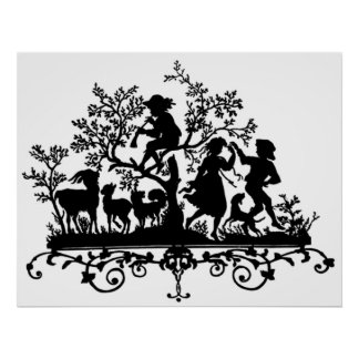 Silhouette Children s Fairytale Poster