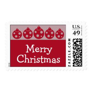 Silhouette Christmas Ornaments Postage (Burgandy)