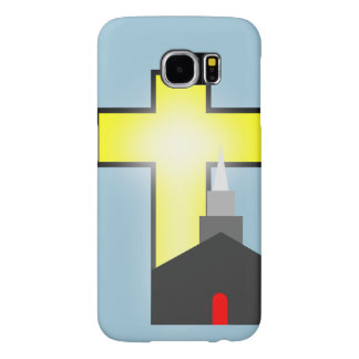 silhouette church and cross Samsung Galaxy S6 case