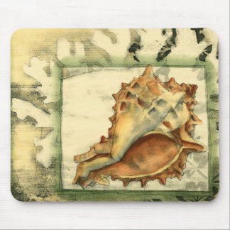 Silhouette Conch Shell Mouse Pad