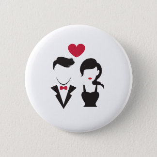 Silhouette Couple Pinback Button