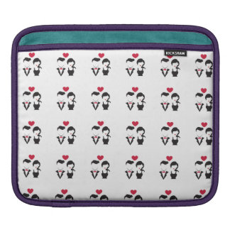 Silhouette Couple Sleeve For iPads