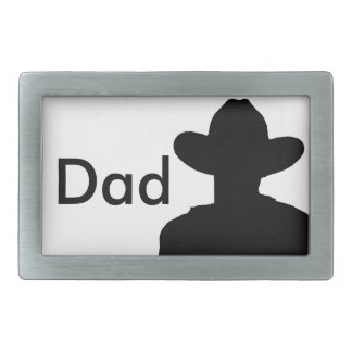 Silhouette Cowboy Belt Buckle - Dad