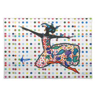 Silhouette dancer Placemat