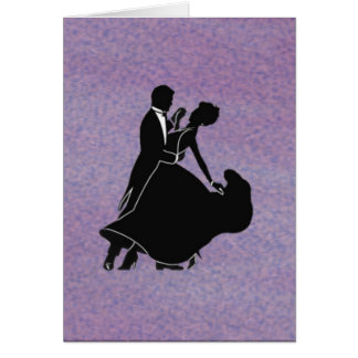 Silhouette Dancers Greeting Card
