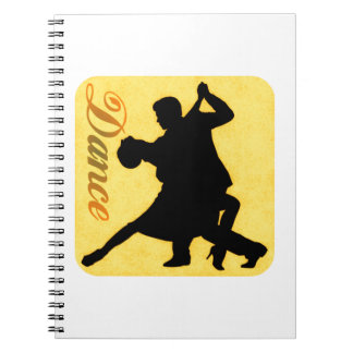 Silhouette Dancing Couple Spiral Notebook