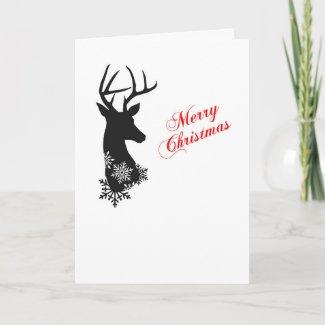 Silhouette Deer Christmas Card