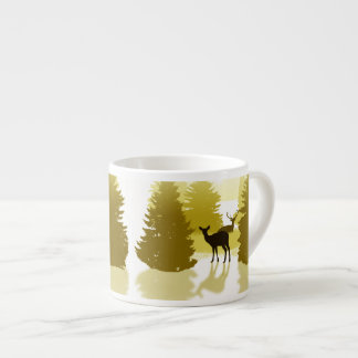 Silhouette Deer Forest Espresso Cup