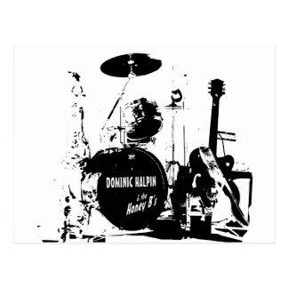 Silhouette Dominic Halpin Logo Postcard