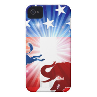 Silhouette Donkey Fighting Elephant Case-Mate iPhone 4 Case
