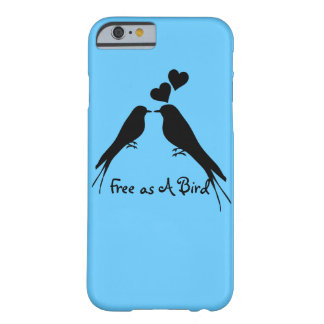Silhouette Drawing of Two Birds in Love Barely There iPhone 6 Case