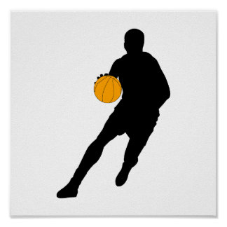Silhouette Dribble Poster