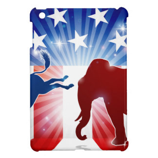 Silhouette Elephant Fighting Donkey Case For The iPad Mini