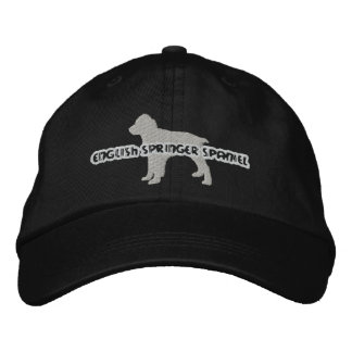 Silhouette English Springer Embroidered Hat
