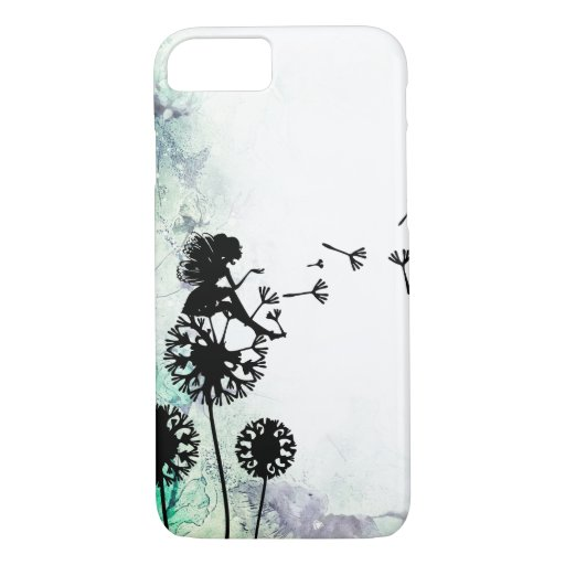 Silhouette Fairy and Dandelion Seeds Flower Garden iPhone 8/7 Case