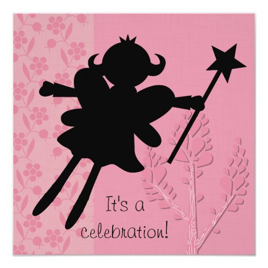 Silhouette Fairy Princess Birthday Invitation