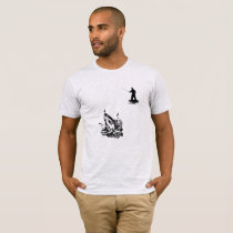 Silhouette Father Is Fishing Fish T-Shirt