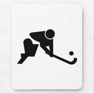 Silhouette Field Hockey Mouse Pad