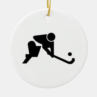 Silhouette Field Hockey Ornament