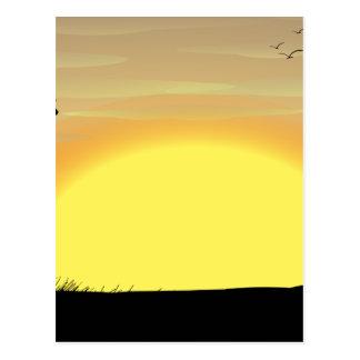 Silhouette field postcard