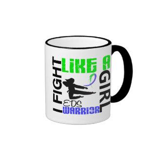 Silhouette Fight Like A Girl EDS 3.2 Ringer Coffee Mug