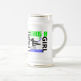 Silhouette Fight Like A Girl EDS 3.2 18 Oz Beer Stein