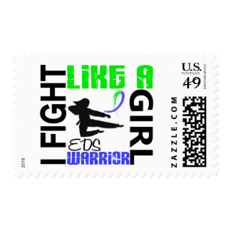Silhouette Fight Like A Girl EDS 3.2 Stamp