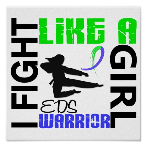Silhouette Fight Like A Girl EDS 3.2 Poster