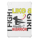 Silhouette Fight Like A Girl Hepatitis C 3.2 iPad Mini Cases