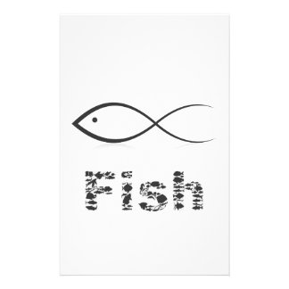 Silhouette fish2 stationery