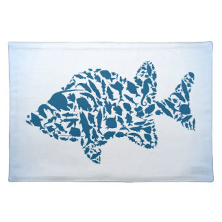 Silhouette fish cloth placemat