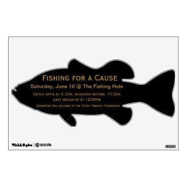 Professional Business Silhouette Fishing Wall Decal Advertising