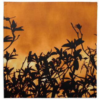 Silhouette Flower Bush Cloth Napkin