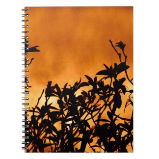 Silhouette Flower Bush Notebook