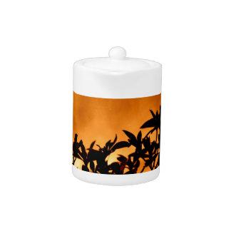 Silhouette Flower Bush Teapot