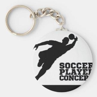 Silhouette Football Soccer Goal Keeper Keychain