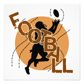 Silhouette Football T shirts and Gifts Custom Announcements