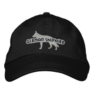 Silhouette German Shepherd Embroidered Hat